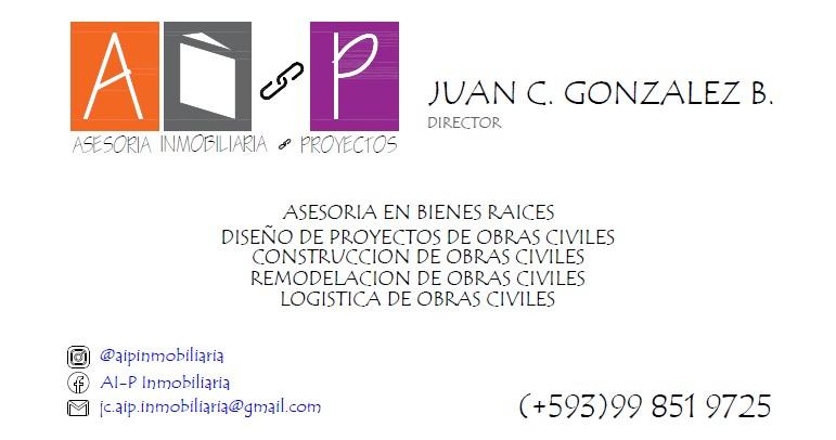 tarjeta de presentacion ai p inmobiliaria con redes